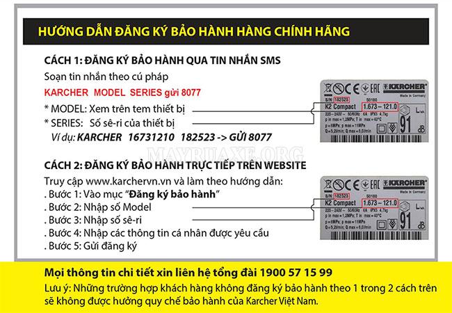 Các trung tâm bảo hành Karcher tại Việt Nam