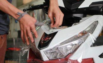 Cách dán decal xe máy