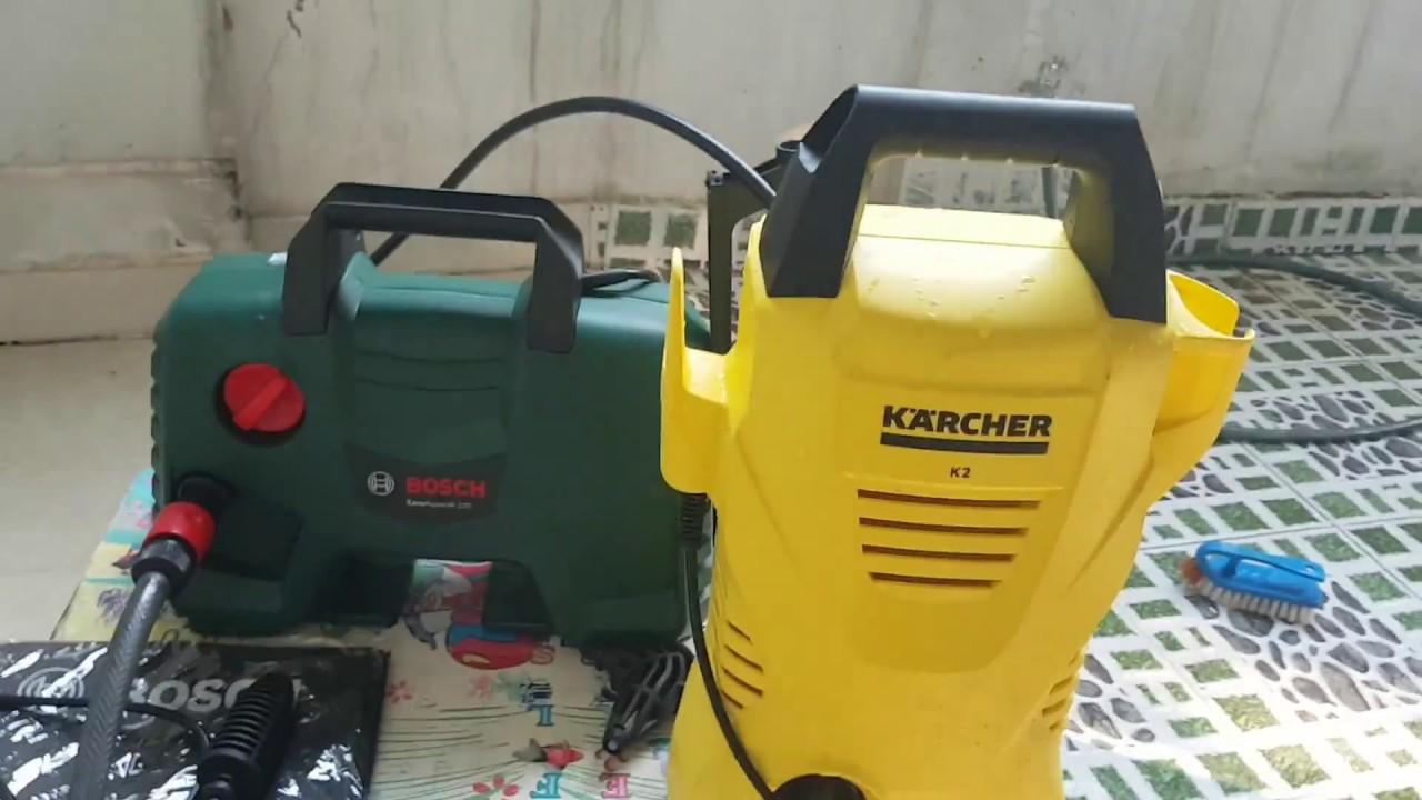 Cả Karcher và Bosch đều có chế độ bảo hành lâu dài