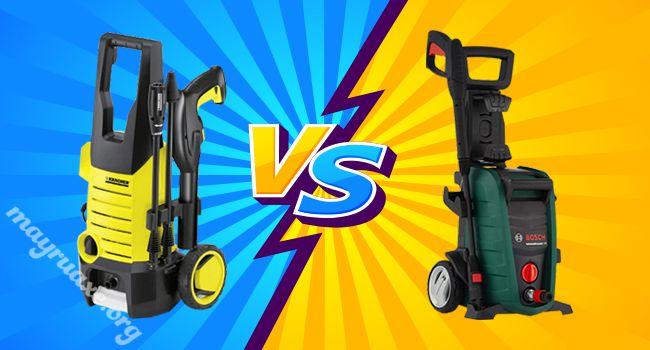 Máy rửa xe Karcher hay Bosch?