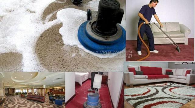 Giặt thảm bằng máy chuyên dụng