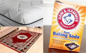 Giặt thảm bằng baking soda