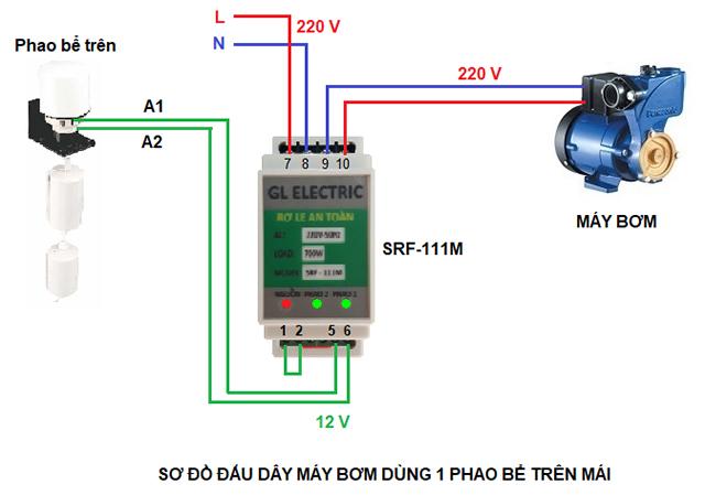 Sơ đồ mạch điện máy bơm nước 3 pha