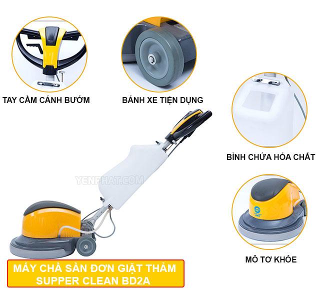 máy đánh sàn công nghiệp Supper Clean BD2A