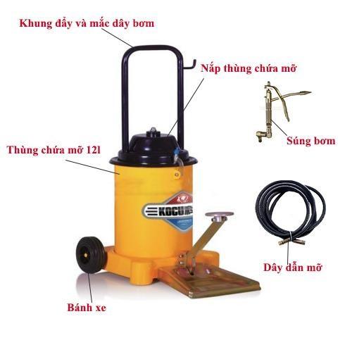 cấu tạo của sản phẩm máy bơm mỡ kocu