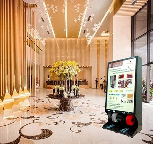 Đặt máy đánh giày ở sảnh mang lại nhiều lợi ích cho khách sạn