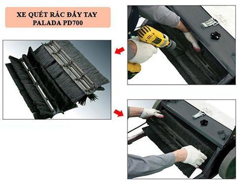Cấu tạo của thiết bị quét rác đẩy tay Palada PD700