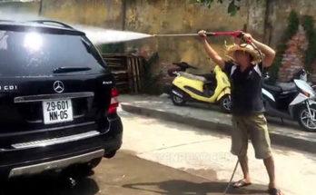 Test máy rửa xe áp lực cao Đài Loan