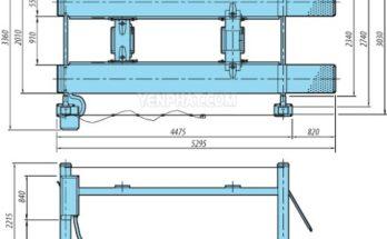 cấu tạo cầu nâng 4 trụ
