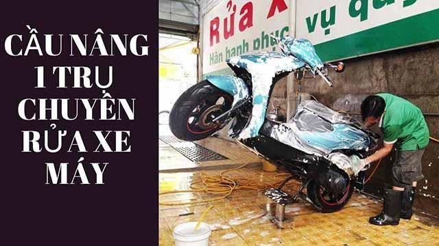 ưu điểm trụ nâng rửa xe máy